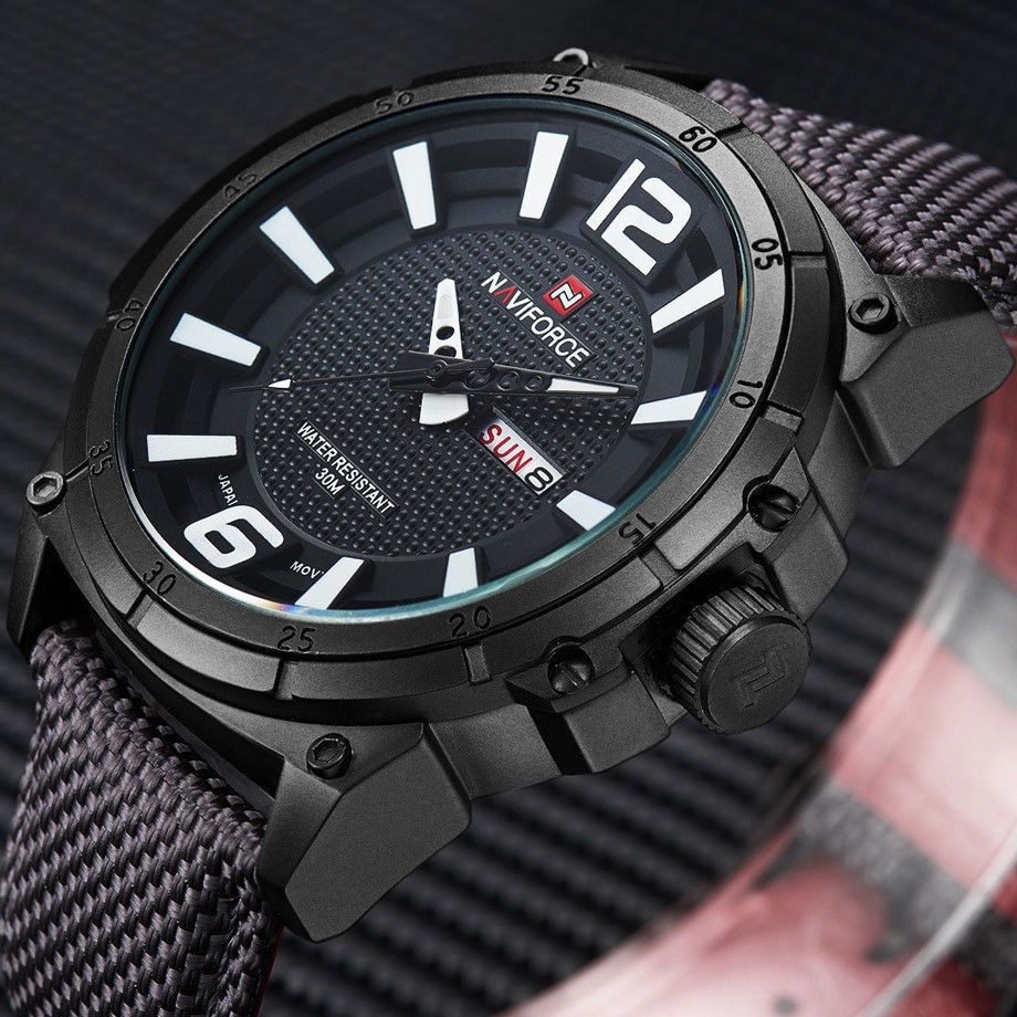 Naviforce Top Brand Military Watches Men Fashion Casual Canvas Leather Sport Qua Naviforce Military Watches Military Style Watches Mens Sport Watches