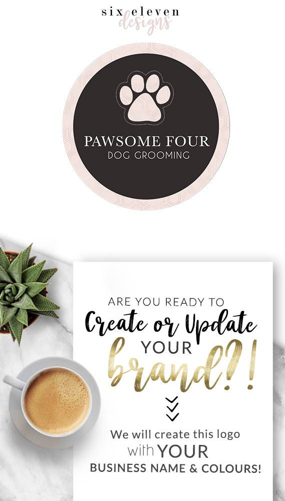 349  Pawsome Four LOGO Premade Logo Design Branding Blog, Logo Design, Premade Logo, Branding, Blog Header, Business Logo, Photography, Boutique, Shop, Jewellery, Website,