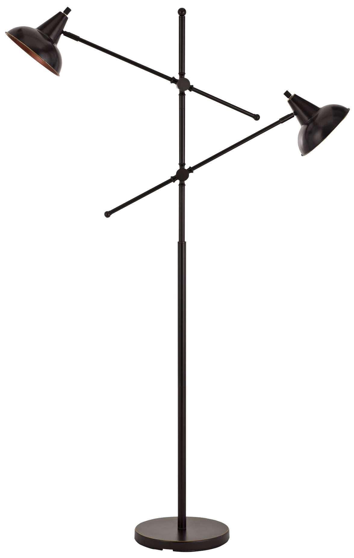 Floor Lamps Canterbury Dark Bronze Metal 2 Light Adjustable Floor Lamp In 2020 Adjustable Floor Lamp Floor Lamp Lamp