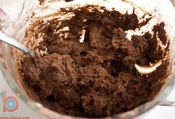 طريقة عمل الكوكيز بالشوكولاه والكاكاو بالصور