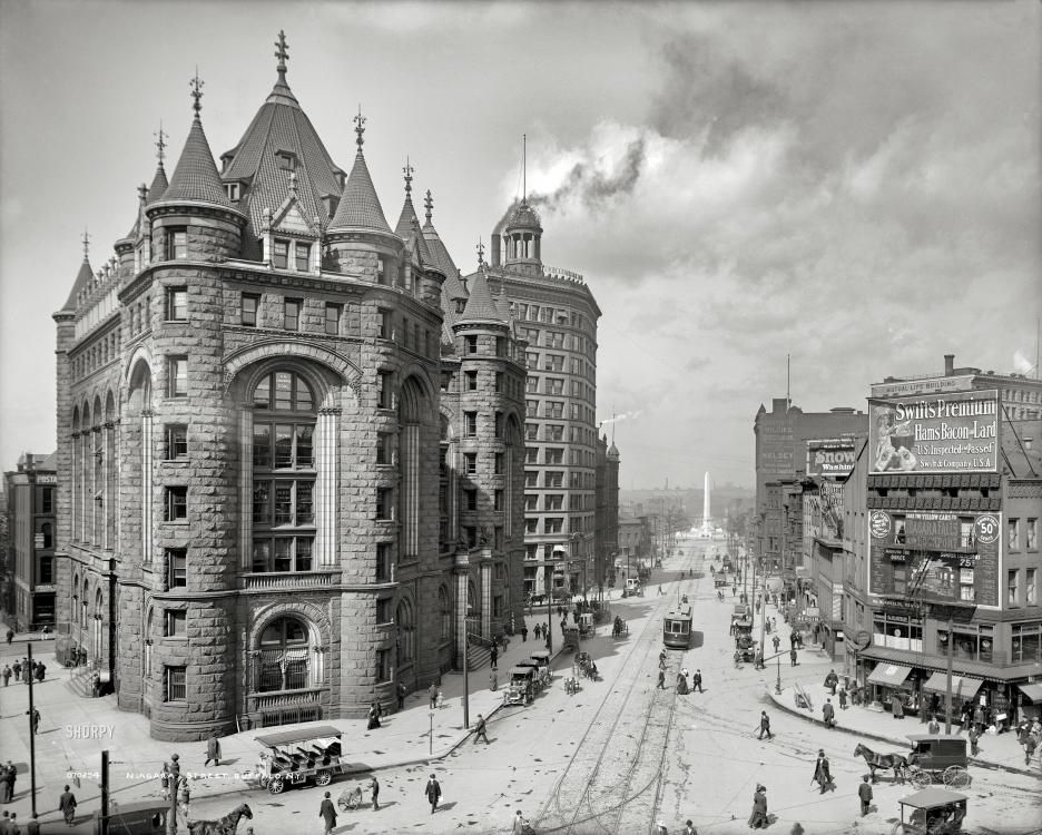 Buffalo new york circa 1908 erie county savings bank niagara street