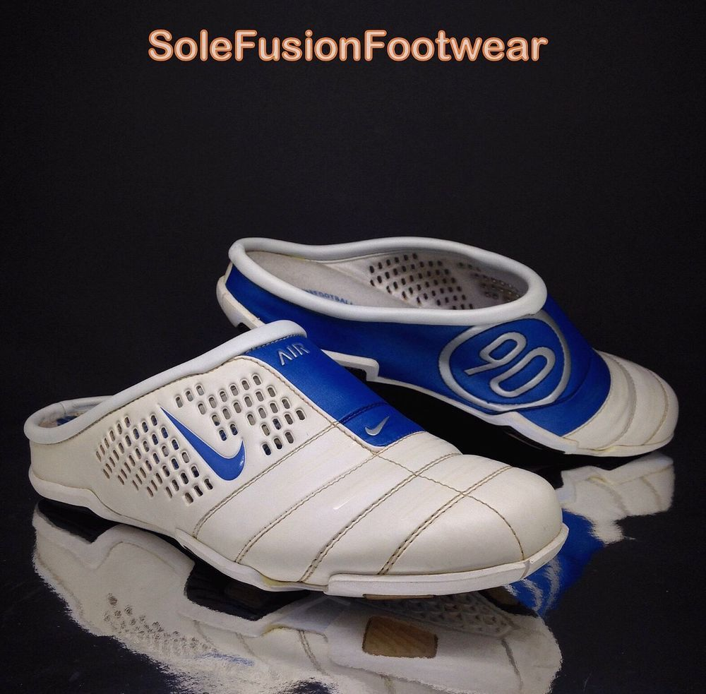 a4a1afd857 Nike Mens Total 90 Moc Sandals sz 6 White Womens Shoes Slip On Slides US 7