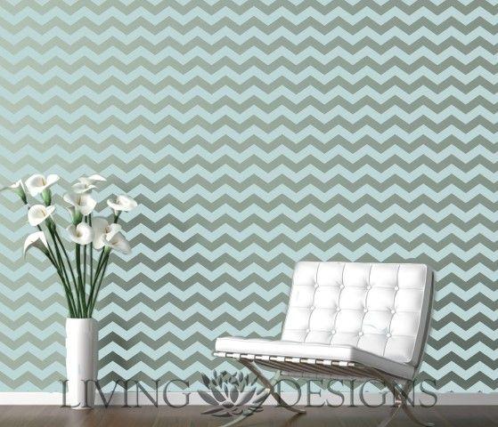 Plantilla decorativa para el dise o de interiores y pintar - Plantillas decorativas pared ...