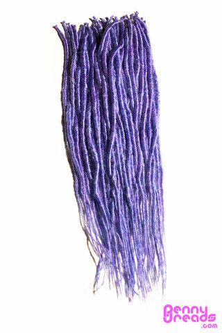 Lavender/Blue Mix U-Tip Synthetic Dreadlocks (10 pieces)