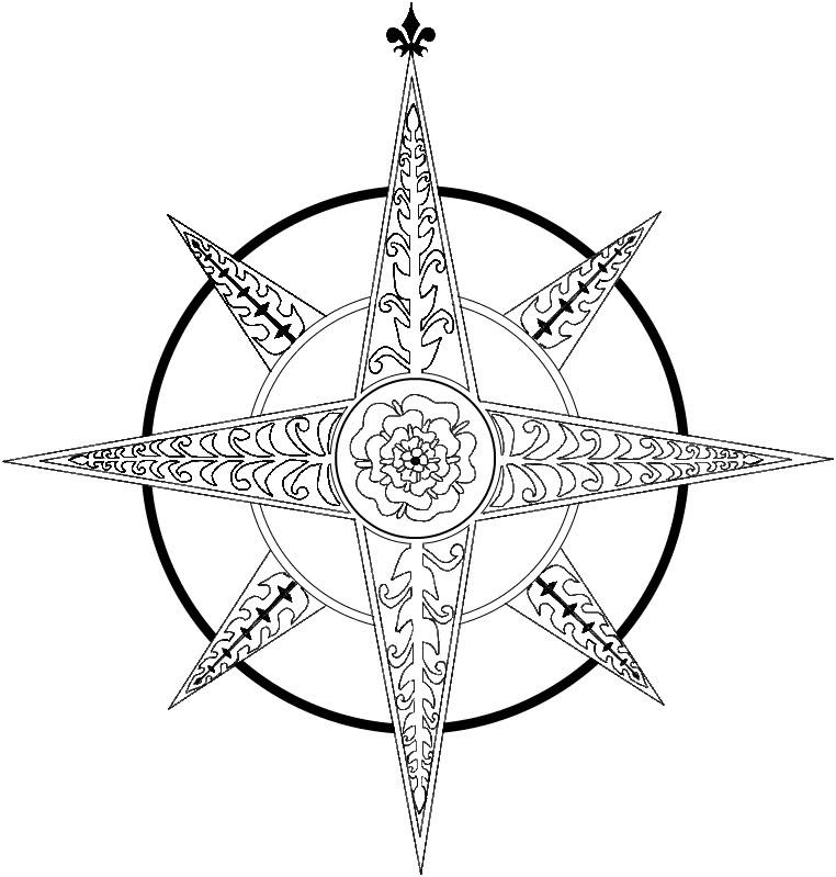 Compass Tattoo Outline Compass Rose Tattoo Images Compass Tattoo