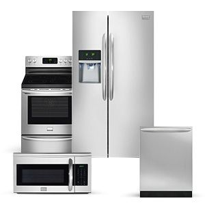 Frigidaire Gallery Side by Side Refrigerator 4 Piece Suite | Remodel ...