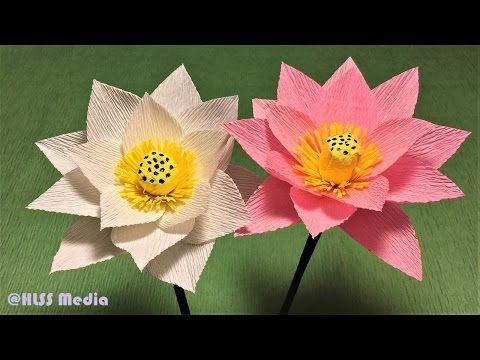 Photo of How to make beautiful lotus paper flower  Diy origami lotus crepe paper flower making tutorials