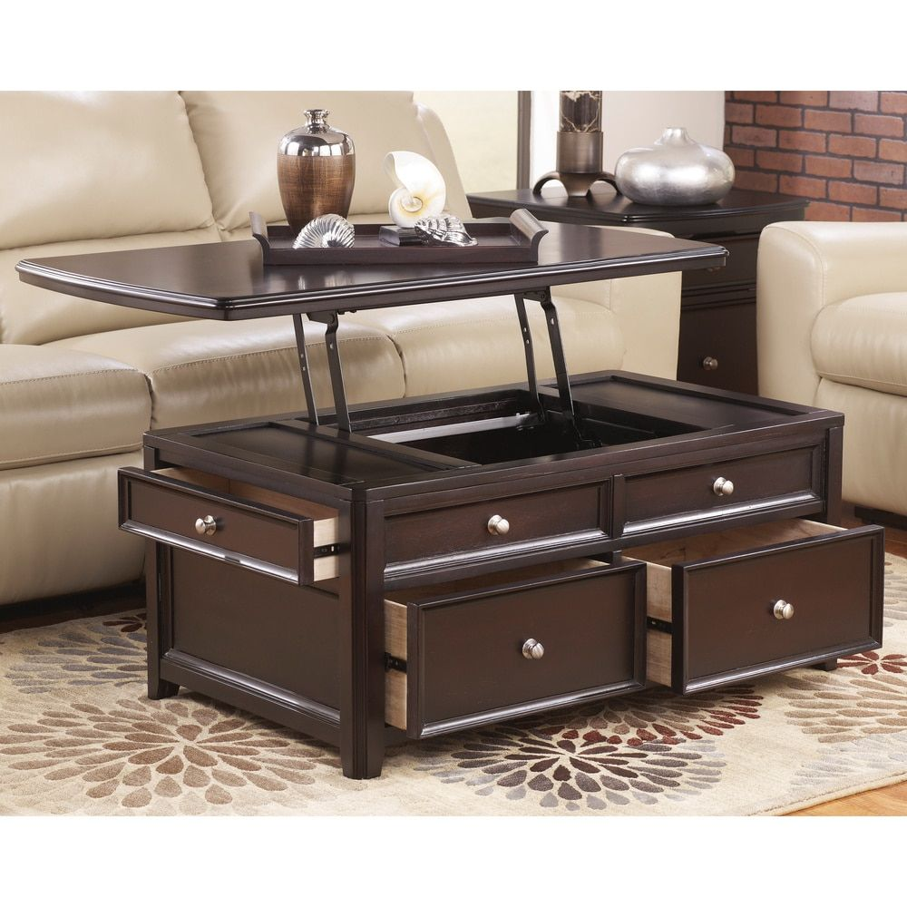 top edge lift sauder storage coffee table products water with