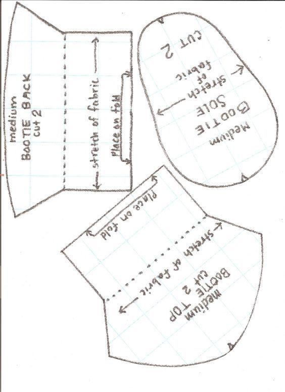 Como hacer botines de fieltro con moldes | Babies | Pinterest ...