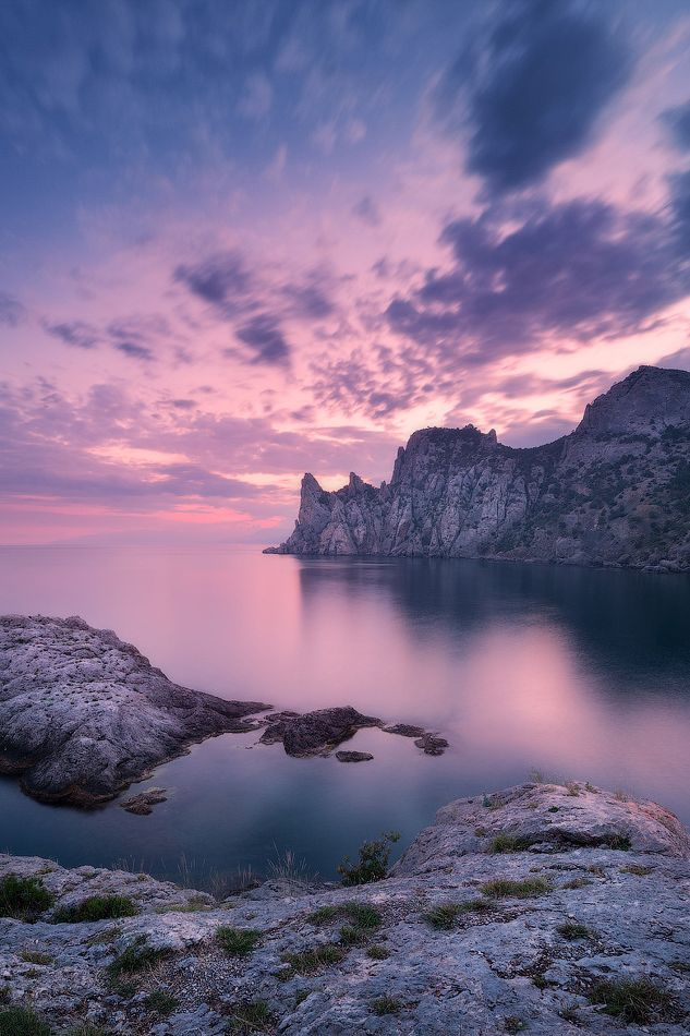 GrØg — banshy:   Magenta twilight in Crimea | Denis...