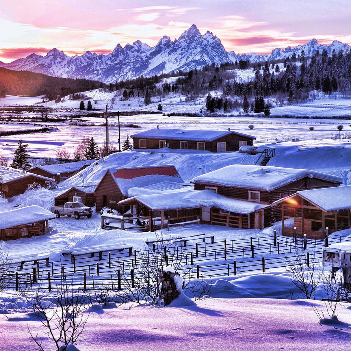 The Heart Six Ranch in Wyoming is an amazing winter ...