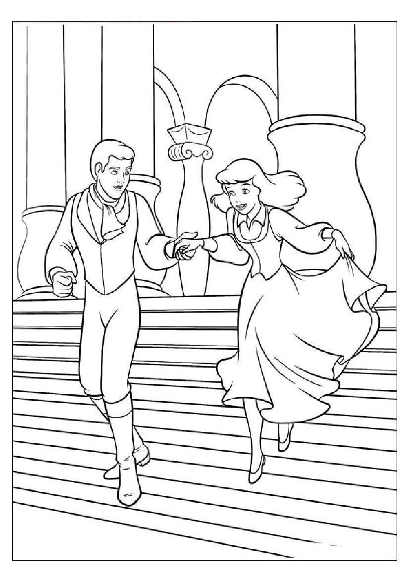 Image from http://mewarnai.us/images/615115-cinderella-and-prince ...