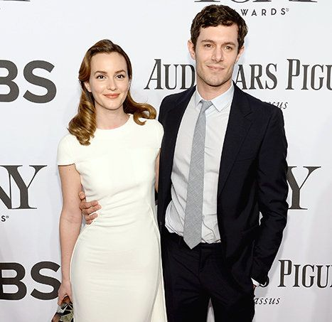 Leighton Meester Adam Brody Walk First Red Carpet Post Wedding At Tony Awards Picture Leighton Meester Hollywood Moms Red Carpet Wedding