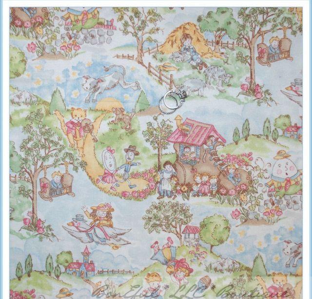 Nursery Rhyme Fabric For Cushion Couch Vintage World