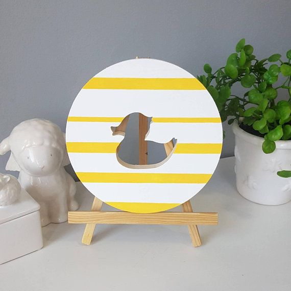 Rubber Duck Wall Art, Gender Neutral Nursery, Yellow And White ...