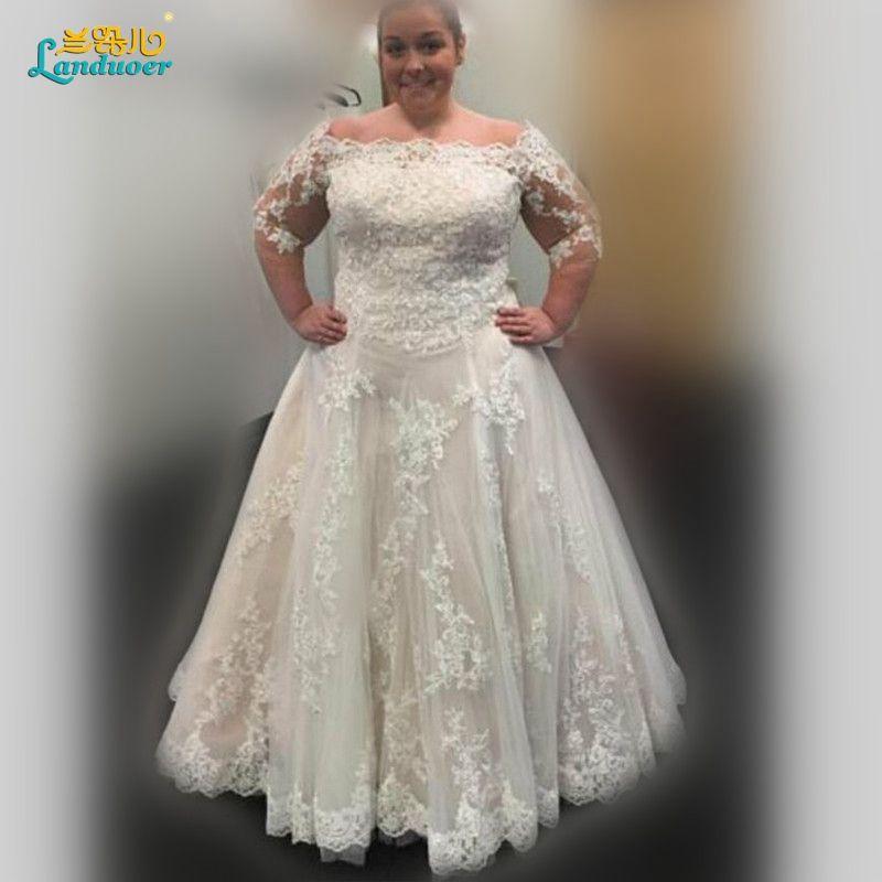 Robe De Mariage Luxury A Line Plus Size Wedding Dress Boat
