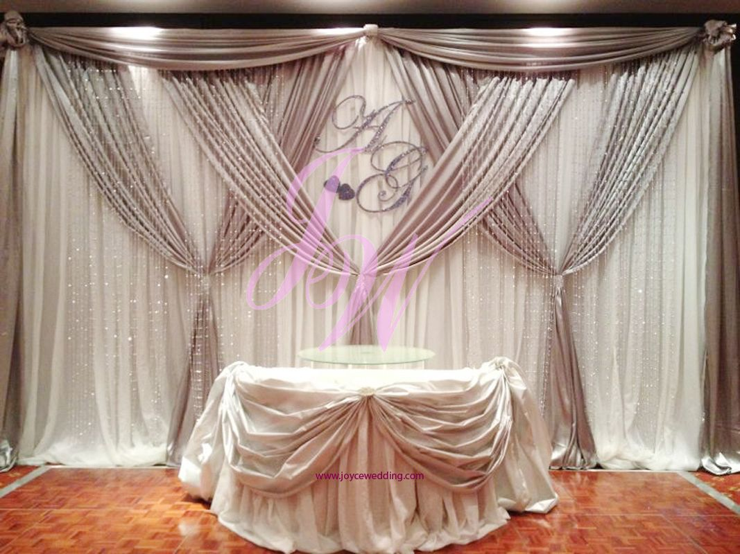 elegant #silver and #white #satin #backdrop at #metropolitan