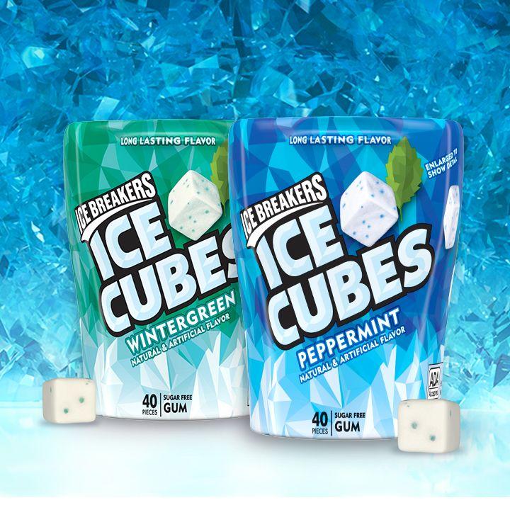 ICE BREAKERS ICE CUBES Wintergreen Gum in 2020 Ice