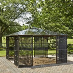 Square 12 X 12 Hardtop Gazebo With Screen Doors Sears With
