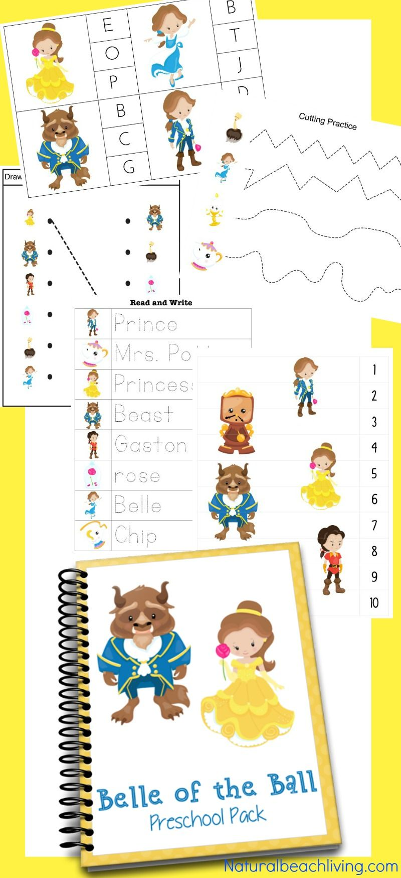 The Perfect Beauty And The Beast Printables For Preschool