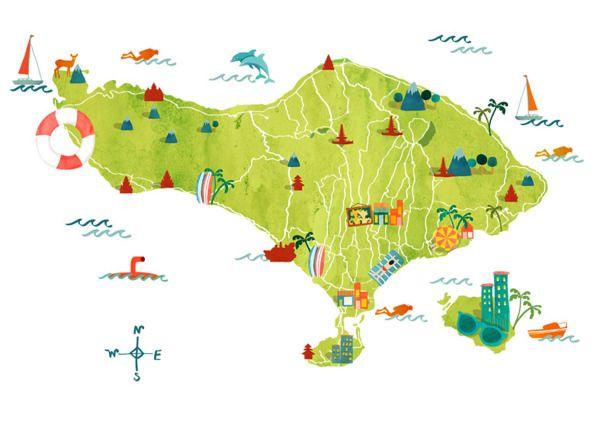 Bali Maps for Hellobali by Astrid Prasetianti DesignMap