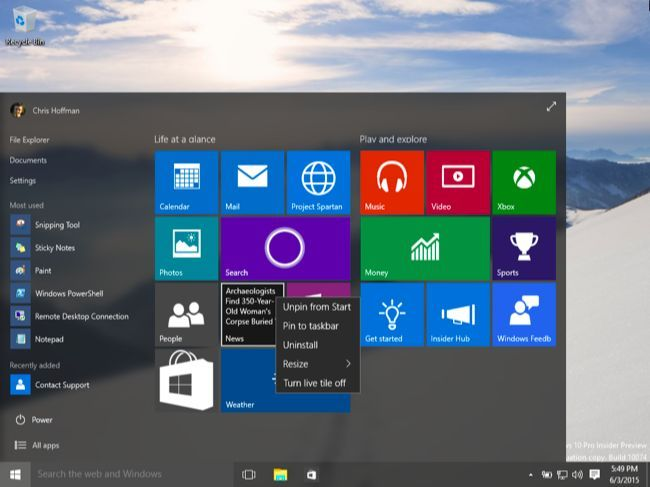 Here's What's Different About Windows 10 for Windows 7 Users
