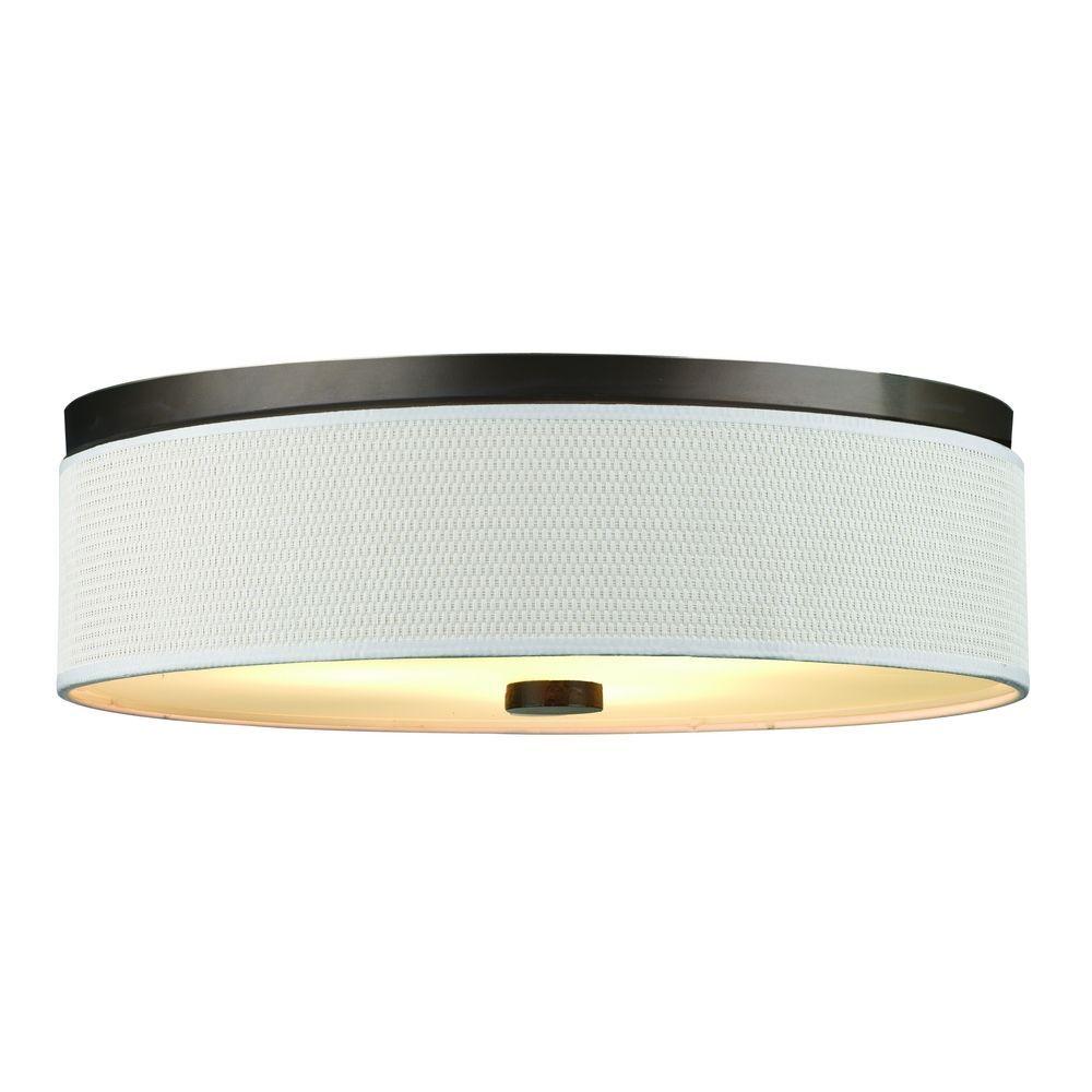Philips Lighting Modern Flushmount Light with White Shade in Sorrel ...
