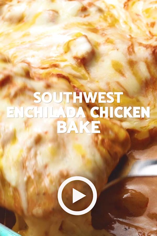 Southwest Chicken Bake (Creamy Enchilada Baked Chicken) images