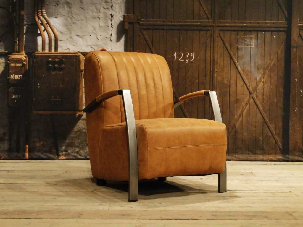 Leren fauteuil menton in de kleur cognac arm chair pinterest