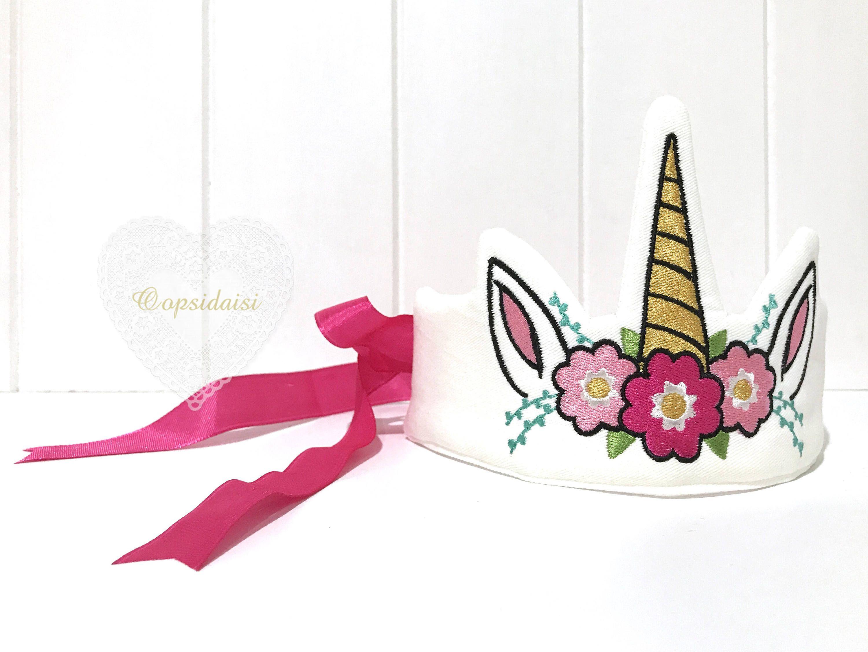 Ith In The Hoop Unicorn Crown Tiara Machine Embroidery