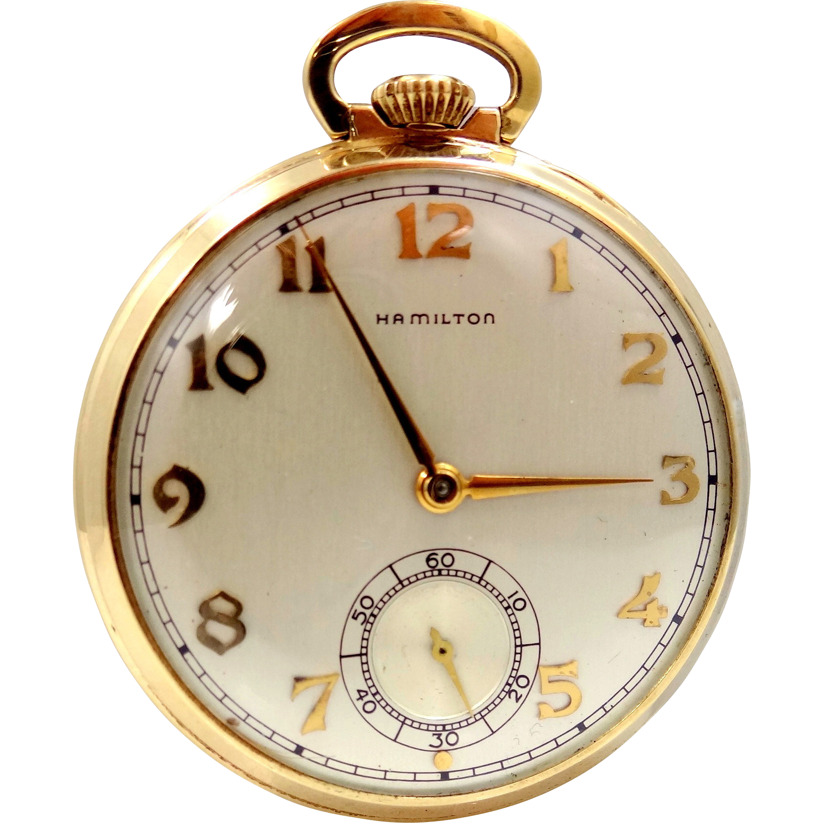 Vintage 14k Gold Hamilton Pocket Watch Model 917 17 Jewels Lukens Steel Co Hamilton Pocket Watch Vintage Pocket Watch Vintage Watches