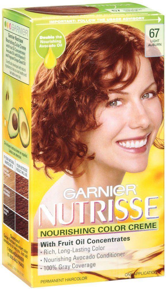 Garnier Nutrisse Haircolor 67 Light Auburn Ginger Spice Check