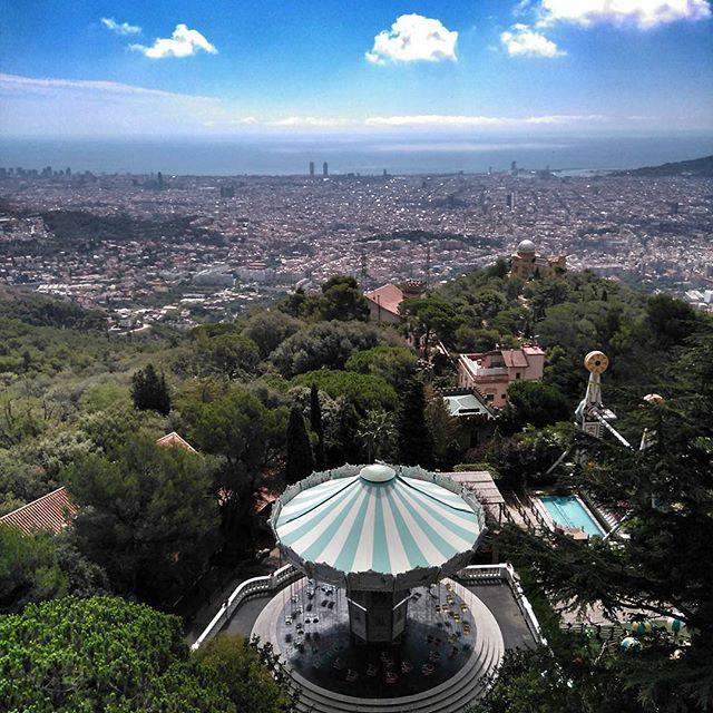 Barcelona Panorama From Tibidabo #barcelona #tibidabo