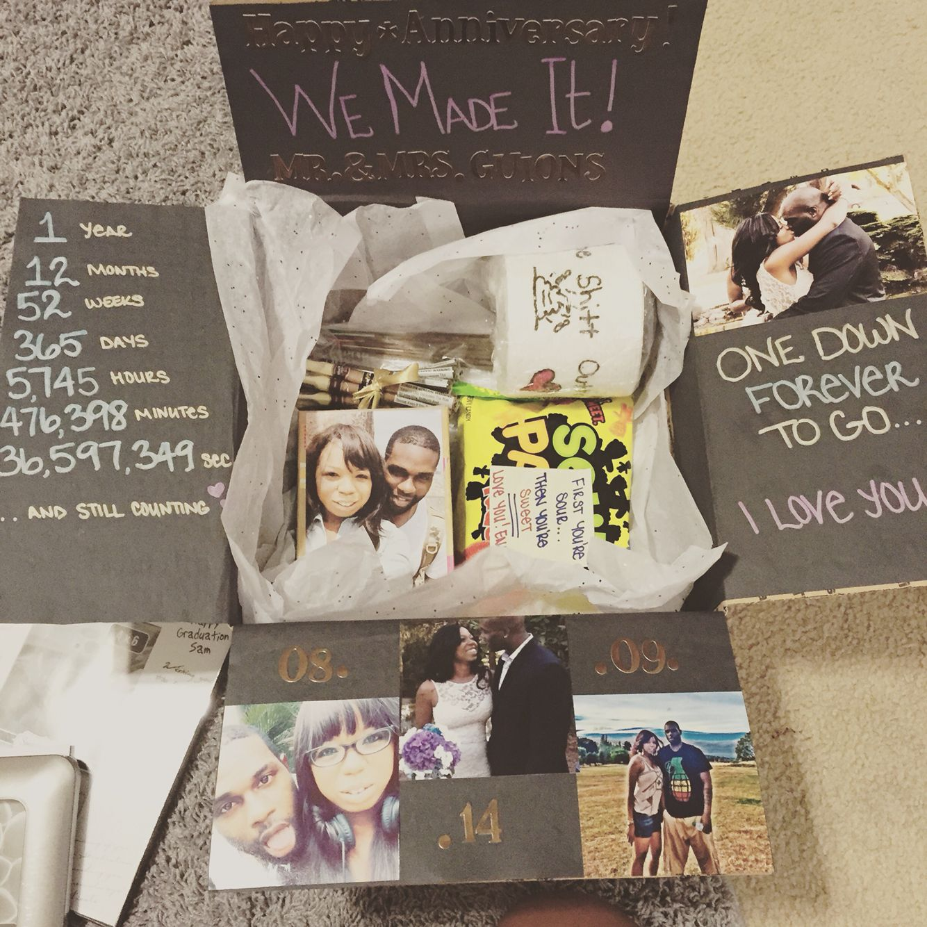 Diy Wedding Anniversary Gifts: One Year Anniversary Care Package