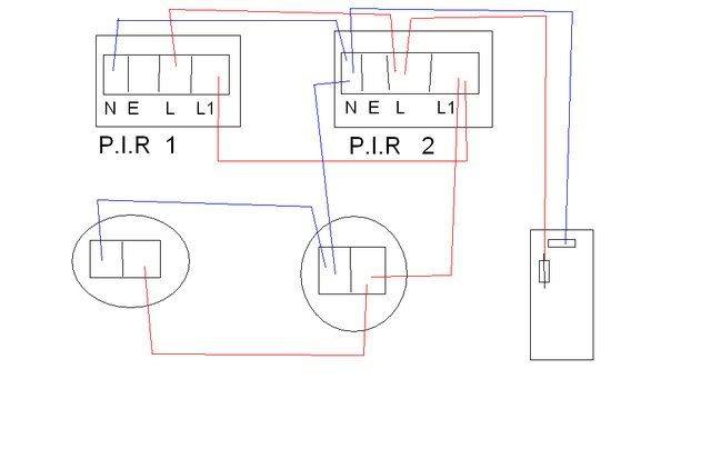 Running two or more lights from two pirs wiring diagrams running two or more lights from two pirs cheapraybanclubmaster Choice Image