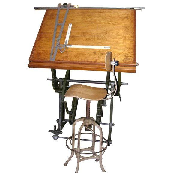 An Incredible 19th C. Architect's Drafting Table | From a unique collection  of antique and - An Incredible 19th C. Architect's Drafting Table From A Unique