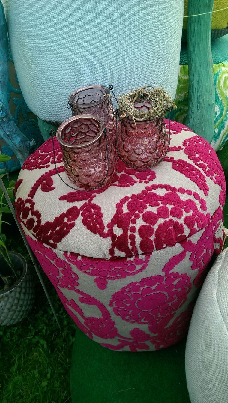#Pouf #Sommer #Pink #verspielt # handmade