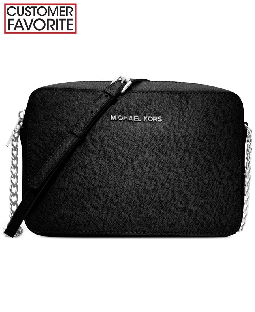 5c8d272444 MICHAEL Michael Kors Jet Set Travel Large Crossbody- In the Navy and Gold