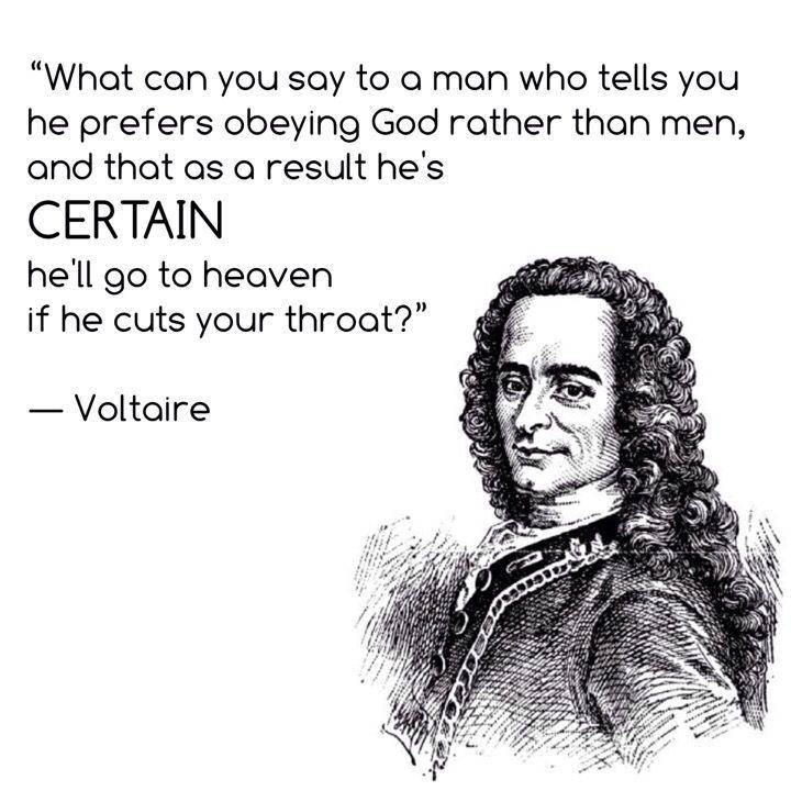 Voltaire Islam Atheist