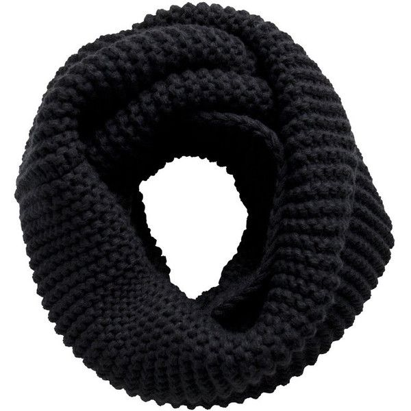 56c3ff6c7ef PIECES Knitted Tube Scarf ($14) ❤ liked on Polyvore featuring accessories,  scarves, black, round scarf, infinity loop scarves, infinity scarves, tube  scarf ...