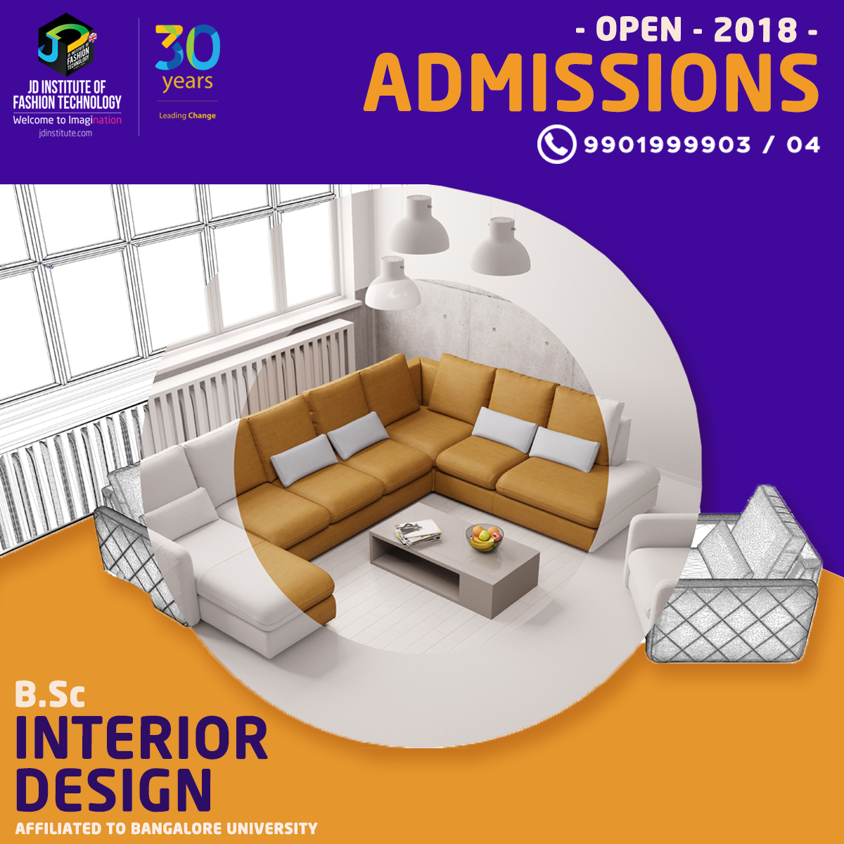 Make An Impression With Great Space Designs Take Up A Professional Degree Course In Interior Design Call Our C Interior Design Courses Interior Design Design