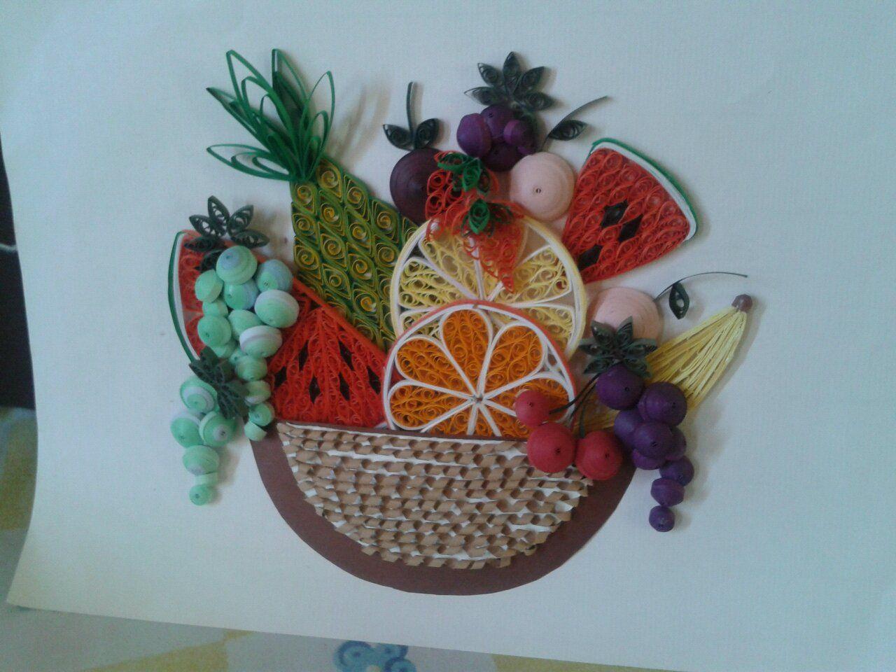 квиллинг фрукты фото вообще идея классная