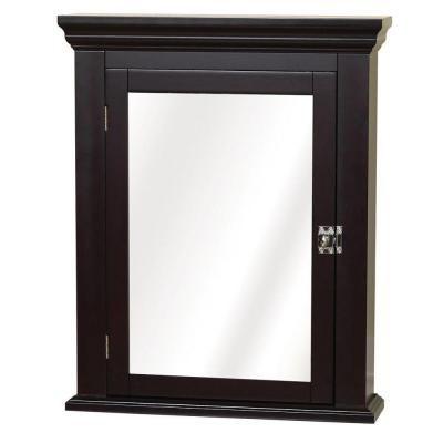 Zenith Interiors 22 In W Surface Mount Mirrored Medicine Cabinet