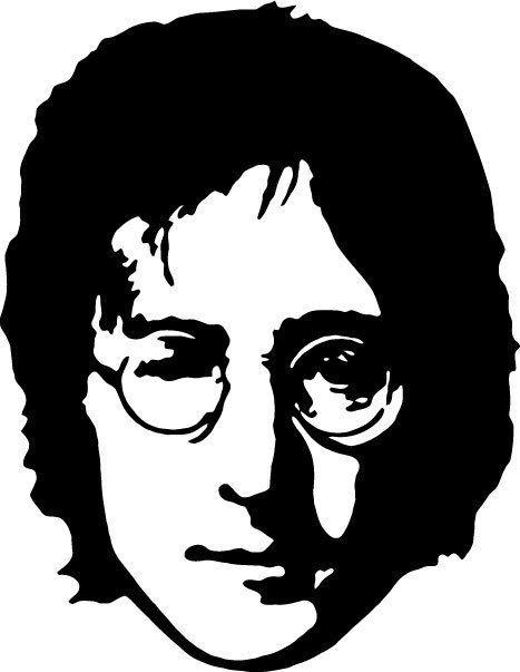 John Lennon Silhouette Sticker Car Bumper Vinyl Sticker 10 Cm X 10 Cm Silhouette Art Beatles Art Beatles Silhouette