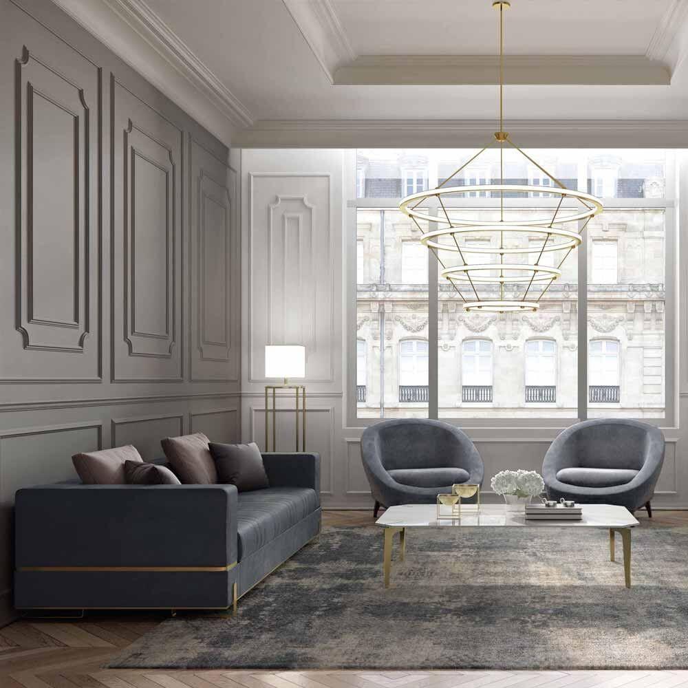 Luxury Designer Contemporary Leather Italian Sofa In 2020