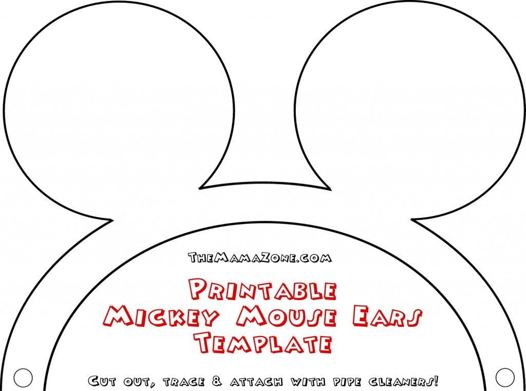 Free Mickey Mouse Ears Template The Mamazone Mickey Mouse Printables Mickey Mouse Template Mickey Mouse Ears
