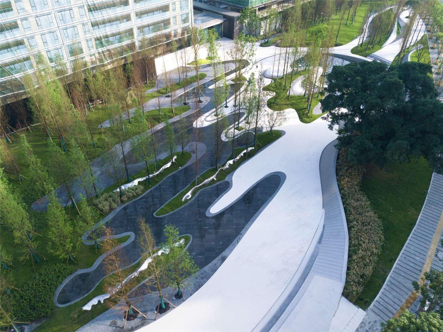 Pin By U On Landscape Landscape Plaza Urban Landscape Design Landscape Design