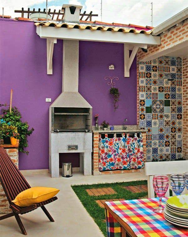 Con colores originales tu patio o terraza resultar - Como decorar el patio ...