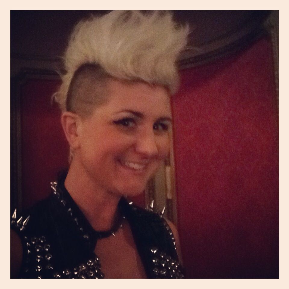 Blonde mohawk studs spikes my style pinterest mohawks and