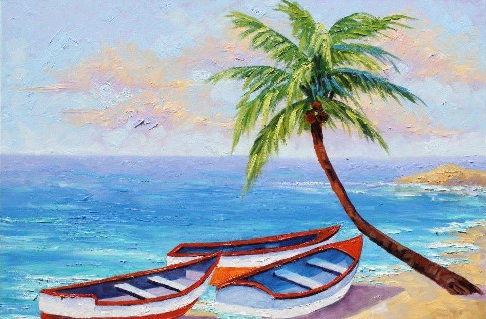Gambar Pemandangan Yang Mudah Painting Lukisan Kaca Pemandangan
